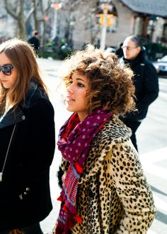 Colorful scarves and animal prints