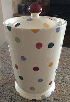 Emma Bridgewater Polka Dot Biscuit / Cookie Jar