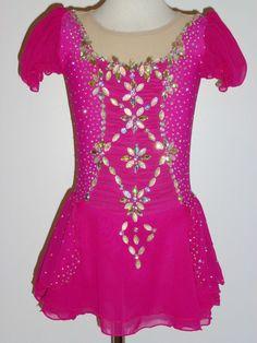CUSTOM MADE TO FIT Elegant Figure Skating Dress WITH CRYSTALS #EliteSkateWear