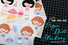 Jin's Make-Your-Own Paper Doll Stickers | Under A Cherry Tree