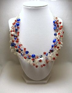 Patriotic Glory - Jewelry creation by Linda Foust