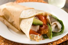 These Classic Cobb Wraps are great options for packed lunches or picnics…