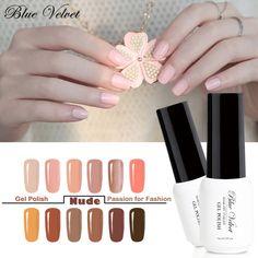 Buy Blue Velvet Nude Series Nail Gel Polish 7ml Pure Color Manicure Soak Off UV LED Gel. Click visit to check price #NailGel