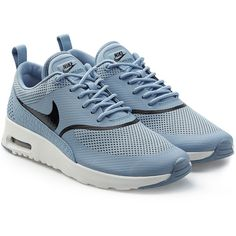 Nike Air Max Thea Textured Sneakers ($105) ❤ liked on Polyvore featuring shoes, sneakers, blue, nike, urban sneakers, nike trainers, blue sneakers and urban footwear