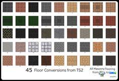Mod The Sims - TS2 to TS4 - 45 Floor Conversions (Masonry)