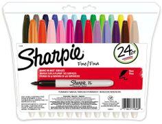 Sharpie Fine Point Permanent Markers, 24 Colored Markers (75846) Sharpie,http://www.amazon.com/dp/B000GOZYRO/ref=cm_sw_r_pi_dp_qKZ0sb0EXJJ0Y644