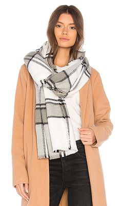 Shop for Michael Stars Brushed Plaid Wrap in Chalk at REVOLVE. Free 2-3 day shipping and returns, 30 day price match guarantee.