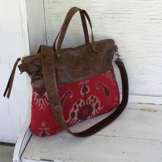 2 Way Tote with detachable cross body strap.   www.BuckskinPonyBags.etsy.com