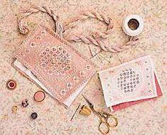 CARON Collection Free Patterns -- Hardanger Needle Case and Pincushion #freehardanger