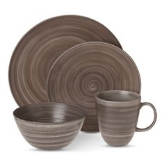 Threshold� Lowry Porcelain 16 piece Dinnerware Set - Gray