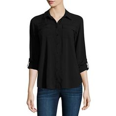 FREE SHIPPING AVAILABLE! Buy a.n.a Button Front Flap Pocket Shirt at JCPenney.com today and enjoy great savings.