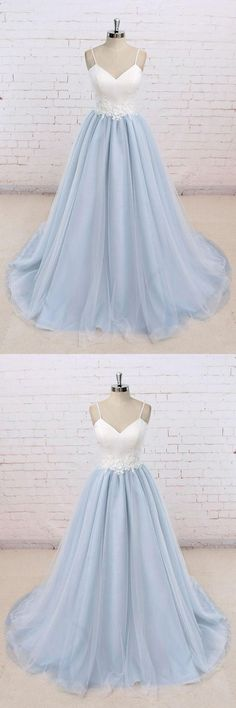 Simple Prom Dress #SimplePromDress, White Evening Dresses #WhiteEveningDresses, Prom Dresses 2019 #PromDresses2019, Prom Dress Blue #PromDressBlue