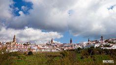 Panorámica con las 5 torres de Jerez de los Caballeros, Extremadura
