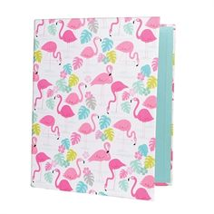 Flamingo Print A4 Ring Binder £3.50 at www.pinksandgreen.co.uk