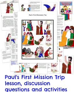 Come Check Out This Sunday School Lesson On Pauls First Missionary Journey Lots Of Great