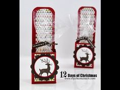 Love the round piece at the bottom with the deer on it. Would make nice gift tags.