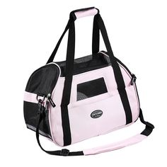Pet Carrier for Dogs and Cats Breathable Mesh Travel Soft Sided Tote Shoulder Bag for Pets (S 16'L×8'W×11.5'H, Pink)