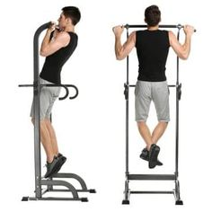 Hurbo Pull up Stand Full Body Power Tower - Adjustable Chin up Bar Power Tower Home Gym Home Gym Exercises, Gym Workouts, At Home Workouts, Gym Exercise Equipment, Home Gym Equipment, Fitness Equipment, Sports Equipment, Training Equipment, Pilates Studio