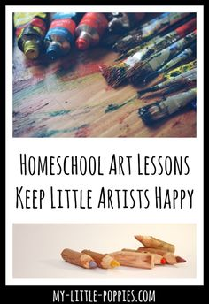 Homeschool Art Lessons Keep Little Artists Happy My Little Poppies  When homeschooling, it is important to remember that you CAN outsource certain subjects... like art!