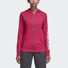 more photos d4ce2 2b153 Essentials Linear Hoodie Magenta 2XL Womens Adidas Neo, Blue Adidas, Adidas  Hoodie, Black