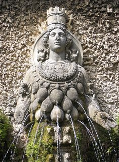 Her temple was one of the 7 wonders of the ancient world. Her statue was found decorating a fountain. Ephesus, near Izmir (ancient Smyrna) Ancient Mysteries, Ancient Ruins, Ancient Artifacts, Ancient Greece, Ancient History, Ancient Goddesses, Gods And Goddesses, Art Antique, Goddess Art