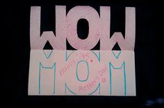 """""""Wow Mom"""" Mother's Day Card - Mother's Day 2014 Crafts"""