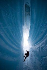 Ice Climb in Greenland