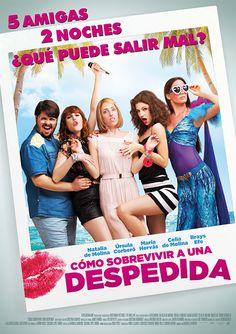 Cartel oficial de Cómo Sobrevivir a una despedida, la comedia dirigida por Manuela Moreno. Abril de 2015.