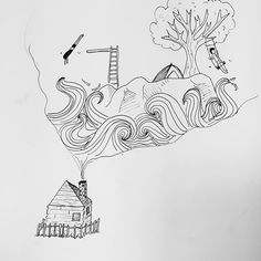 Inktober 30: worked and reworked daydream. Never get sick of it.
