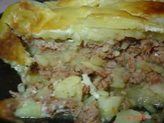Musaca de cartofi, poza 2 Lasagna, Mashed Potatoes, Cooking, Breakfast, Ethnic Recipes, Food, Whipped Potatoes, Kitchen, Morning Coffee