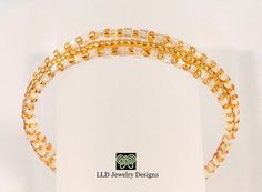 Beaded Layer Bracelet Pearl and Gold Seed by LLDArtisticJewelry, $7.50