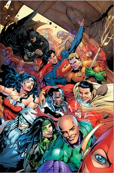 36 Pictures Taken By Superheroes: A Selfie Before Saving The World - Flash Spoiling The Justice League Group Selfie by multiple photo-bombs