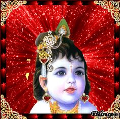 Krishna Gif, Cute Krishna, Radhe Krishna, Durga Maa, Hanuman, Lord Vishnu, Lord Shiva, Shiva Songs, Hindi Good Morning Quotes