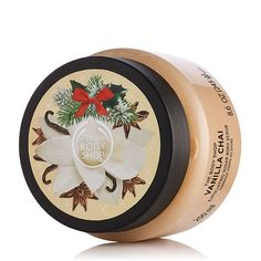 Explore this holiday season, vanilla chai collection of body lotion, shower gel, hand cream and more. Shop vanilla chai sugar scrub from The Body Shop®. The Body Shop, Vanilla Sugar Scrubs, Vanilla Chai, Diy Body Scrub, Body Cleanser, Body Scrubs, Shower Gel, Body Care, Bath And Body