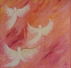 3.  3 Angels 10x10 $75 + 17.80 shipping $92.80 Each painting is created with crystal and Reiki infused water and Angelic Energy. When placed in your space it will bring in the energy of the Angelic Realm. Giving you a visual reminder that you are never alone, and just Ask your Angels for help.