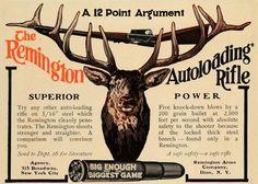 1907 Ad Remington .35 Autoloading Rifle
