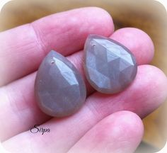 Chatoyant rose cut gray moonstone