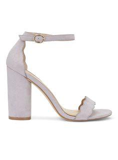 COPENHAGEN Scallop Block Heel Sandals