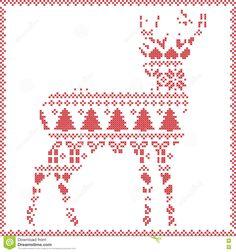 14 best filet crochet images on pinterest cross stitches crochet image result for deer knitting pattern ccuart Images