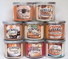 Mine & Hirams fav this year: for Vanilla Pumpkin Marshmellow Pumpkin Pecan Waffles & Pumpkin Cupcake - Fall Candles - Ideas of Fall Candles Perfume, Sugar Donut, Vanilla Chai, Fall Candles, Unique Candles, Christmas Candles, Pumpkin Spice, Pumpkin Pumpkin, Spiced Pumpkin