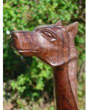 Fairtrade Solid Wooden Wolf Walking Stick