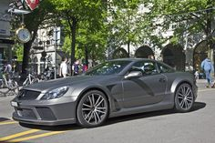 The Mercedes SL65 AMG Black is a sinister looking ride.
