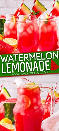 Watermelon Summer Drinks, Fun Summer Drinks Alcohol, Watermelon Alcoholic Drinks, Drink Recipes Nonalcoholic, Watermelon Lemonade, Refreshing Summer Drinks, Summertime Drinks, Alcohol Drink Recipes, Recipes With Watermelon