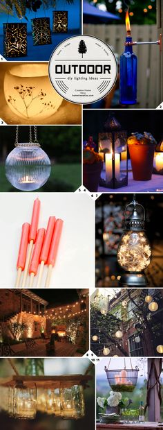 Outdoor DIY lighting ideas...