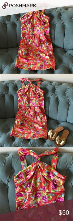 Teeze Me Floral Dress Absolutely beautiful summer dress!! One of my favorites!!! So so girly and feminine! Bought it at Macy's a long time ago ( at least 5-6 years ago )Wore it twice. Doesn't fit me anymore but it still makes me smile every time I look at it! 🌸 🌺 Size 3. ( I usually wear S this is more like XXS-XS). back zipper. Length ~ 35.5 Teeze Me Dresses Mini