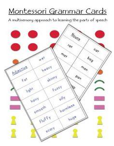 Montessori Grammar Cards