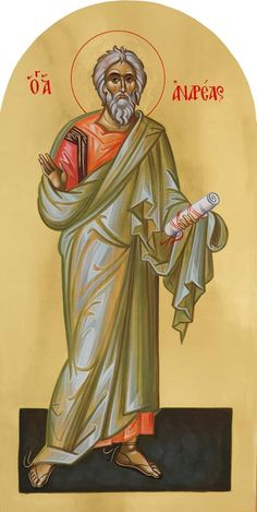 St Andrew the First-Called - Holy Apostle Orthodox Christianity, Orthodox Icons, Christian Art, Ikon, Catholic, Saints, Spirituality, Painting, Fictional Characters