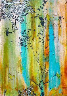 "'Leaving ' by Victoria  Corbett | $250 | 9""w x 11""h | Original Art | http://www.arttwo50.com/buy/art/leaving"