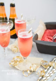 Pop-up libation: Strawberry Sorbet Bellini
