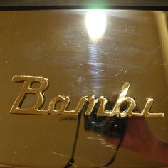 its tricky trying to take a good picture of this Airstream Bambi Emblem